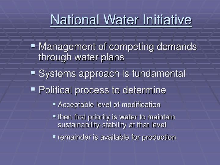 National Water Initiative