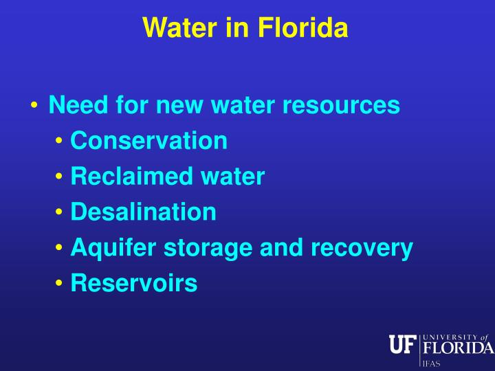 Water in Florida
