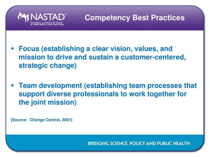 Competency Best Practices