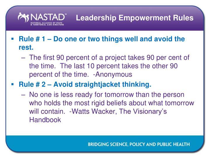 Leadership Empowerment Rules