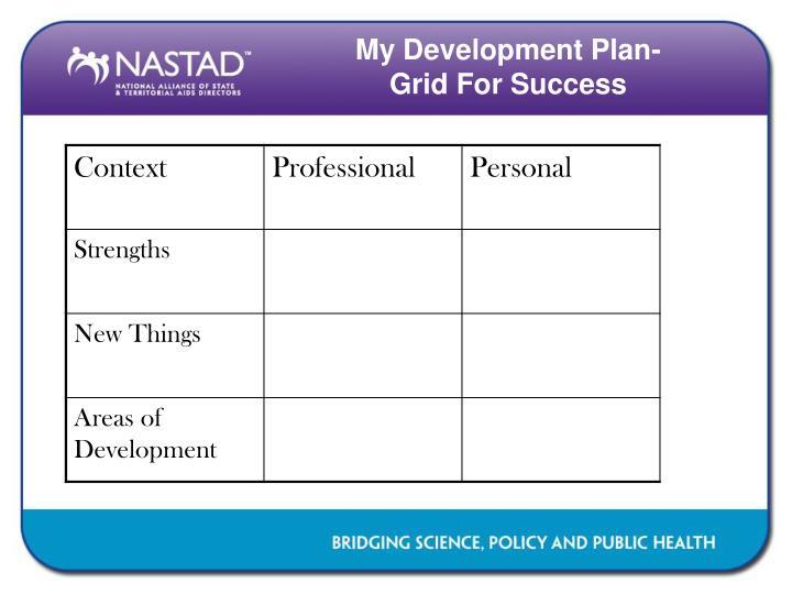 My Development Plan-