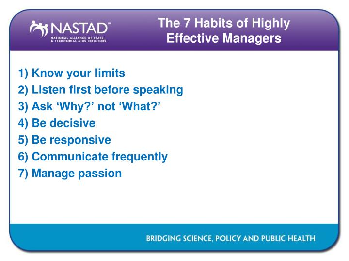 The 7 Habits of Highly