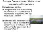 ramsar convention on wetlands of international importance