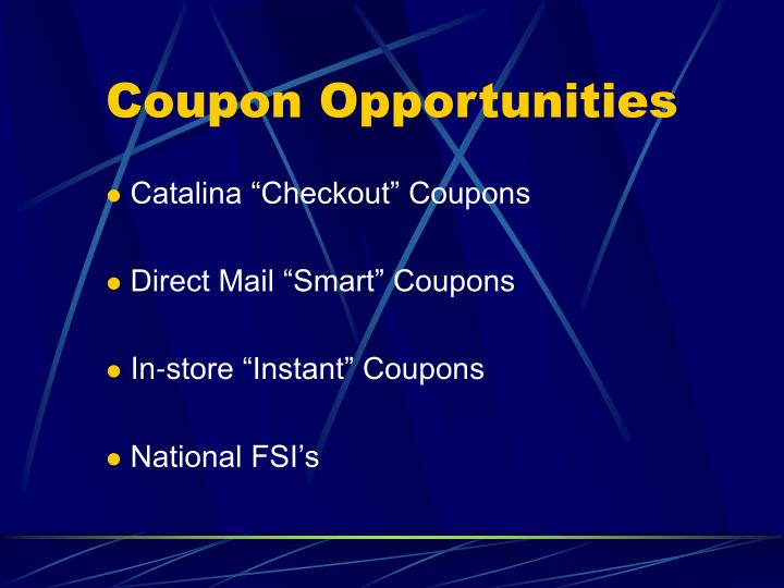 Coupon Opportunities