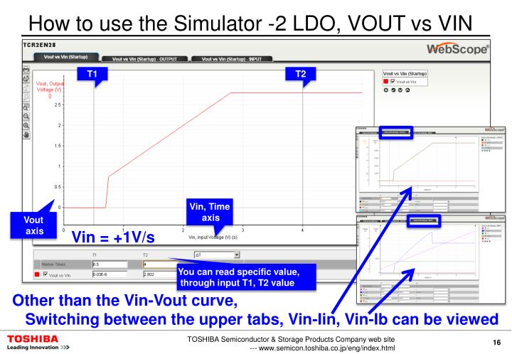 How to use the Simulator -2 LDO, VOUT