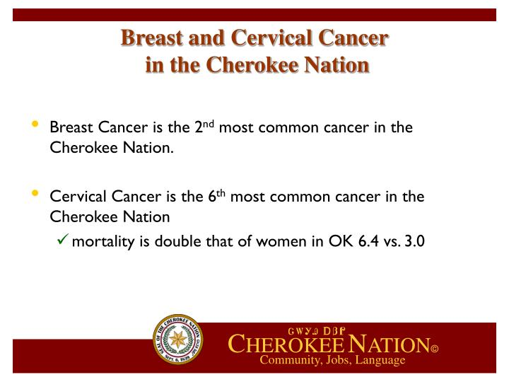 Breast and Cervical Cancer