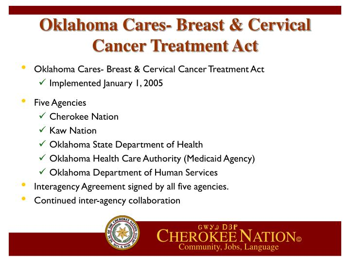 Oklahoma Cares- Breast & Cervical Cancer Treatment Act