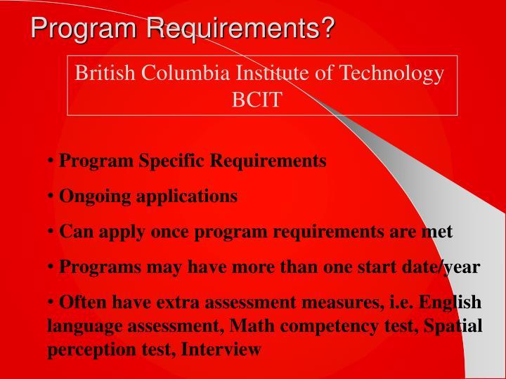 Program Requirements?