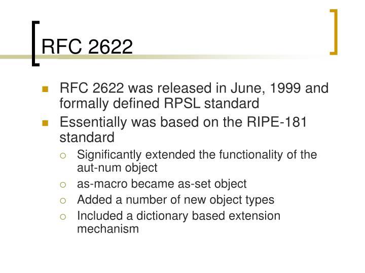 RFC 2622