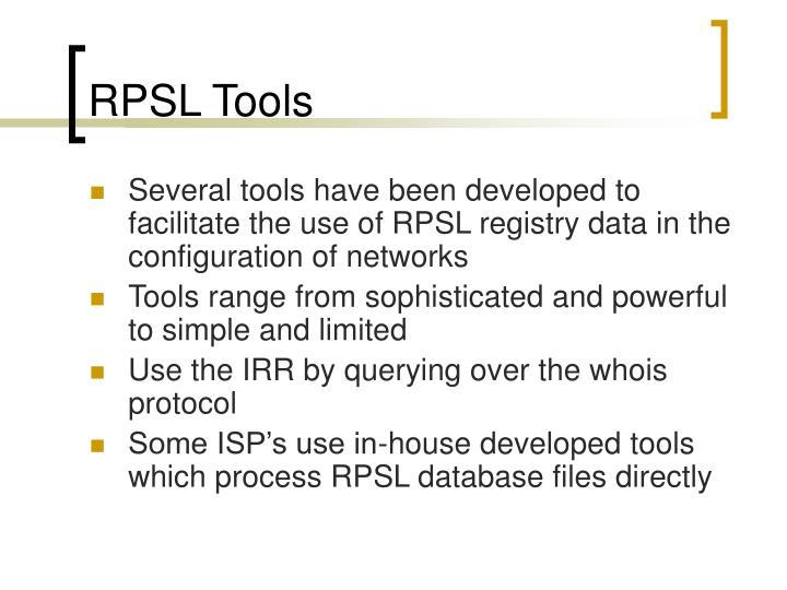 RPSL Tools