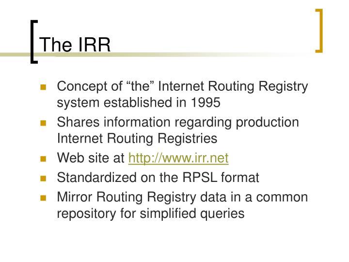 The IRR