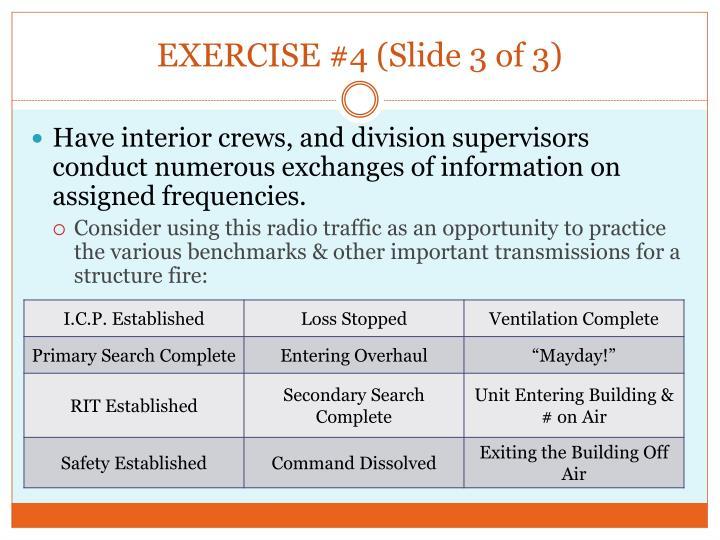 EXERCISE #4 (Slide 3 of 3)