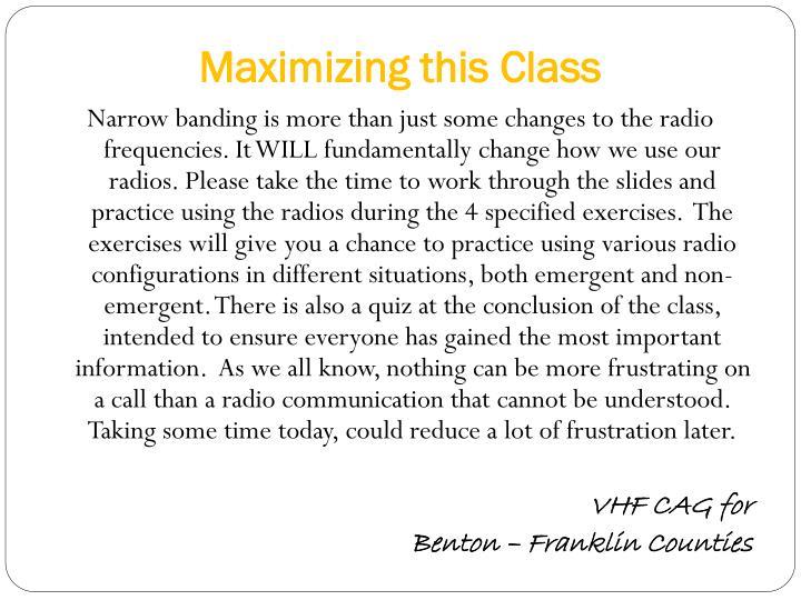 Maximizing this class