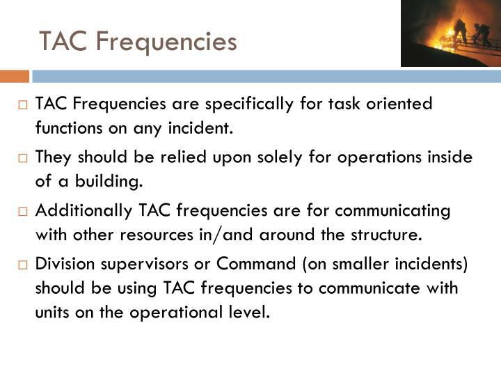 TAC Frequencies