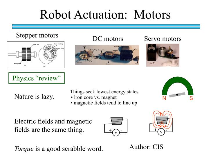 PPT - Robot Actuation: Motors PowerPoint Presentation - ID