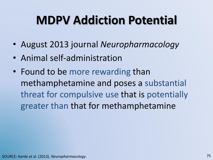 MDPV Addiction Potential