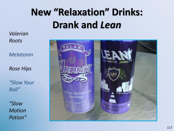 """New """"Relaxation"""" Drinks:"""