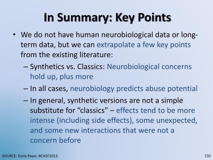 In Summary: Key Points