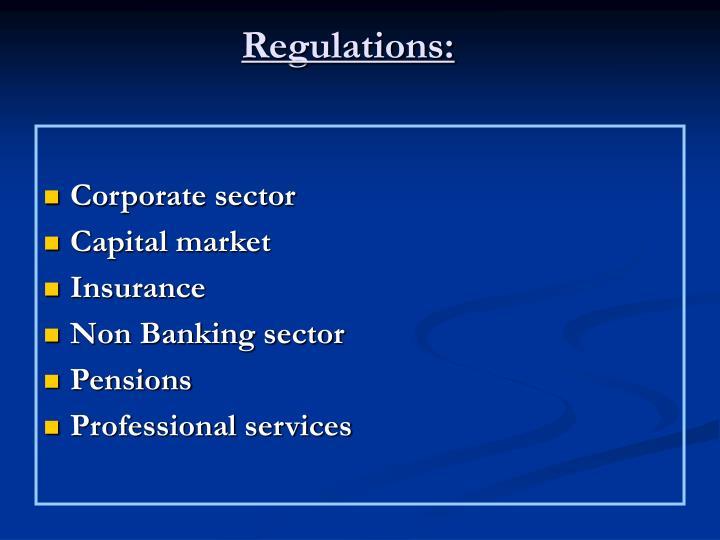 Regulations: