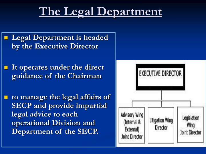 The Legal Department