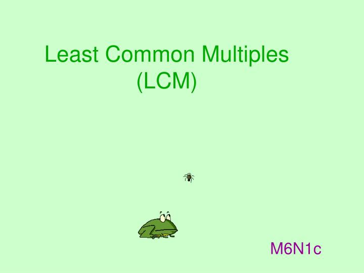 least common multiples lcm n.