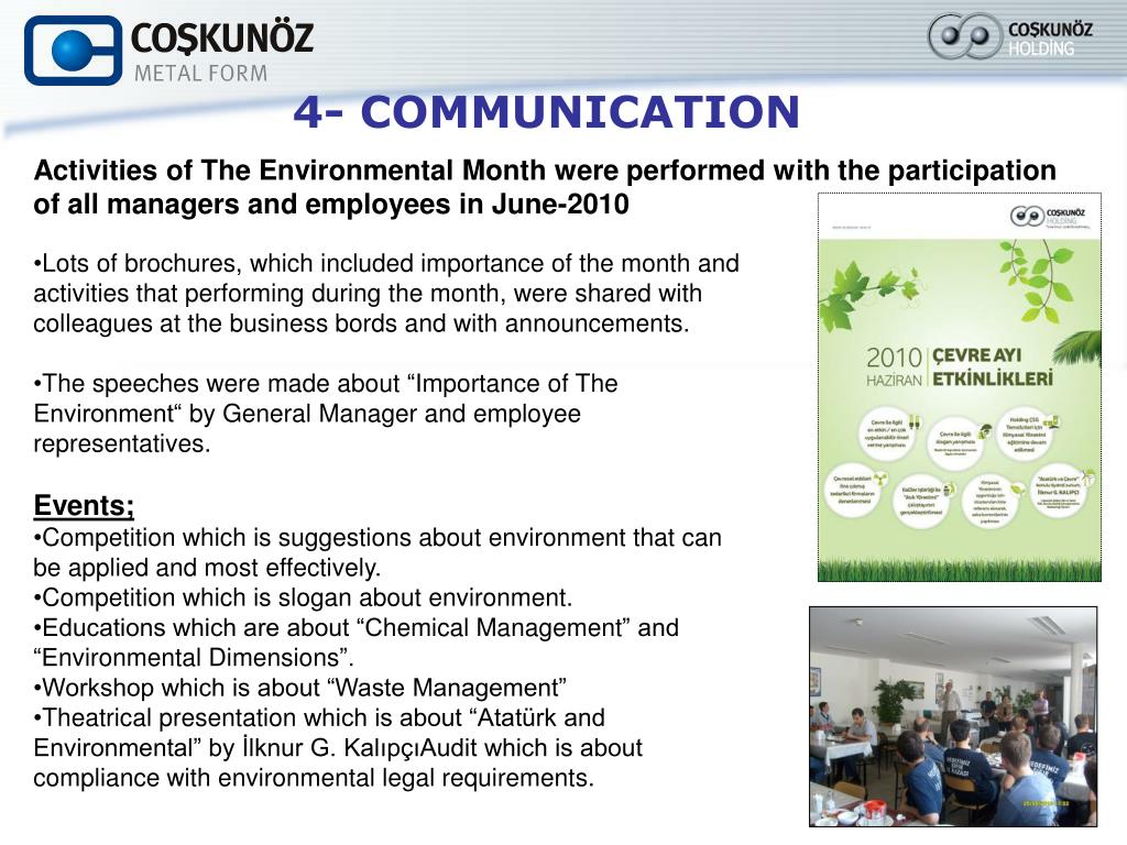 PPT - ENVIRONMENTAL REPORT FOR THE YEAR 2010 PowerPoint