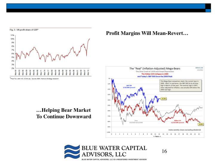 Profit Margins Will Mean-Revert…