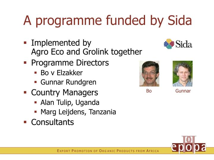 A programme funded by Sida