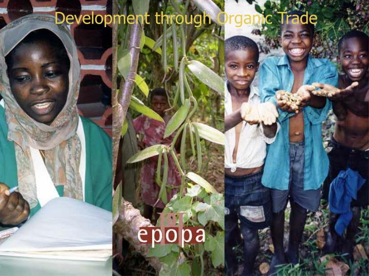 Development through organic trade