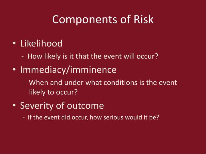 Components of Risk