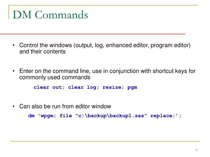 DM Commands