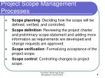 project scope management processes