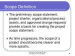 scope definition