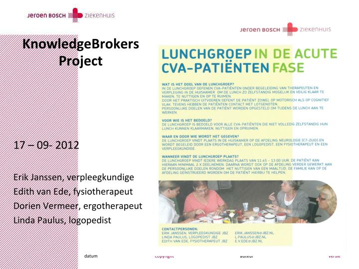 knowledgebrokers project n.