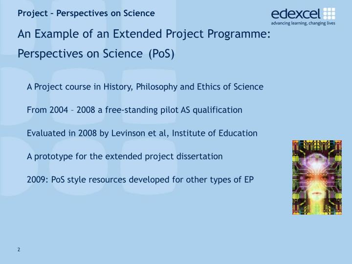 project philosophy example