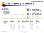 c to assembly example 3