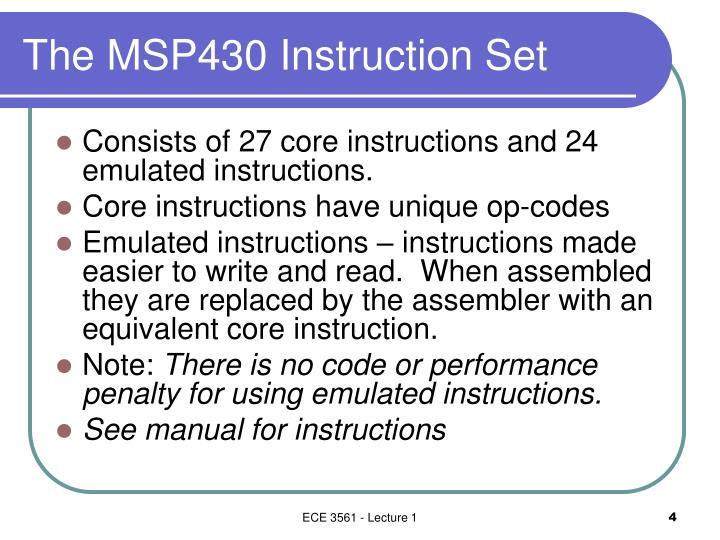 Ppt The Msp430 Instruction Set Powerpoint Presentation Id6655318