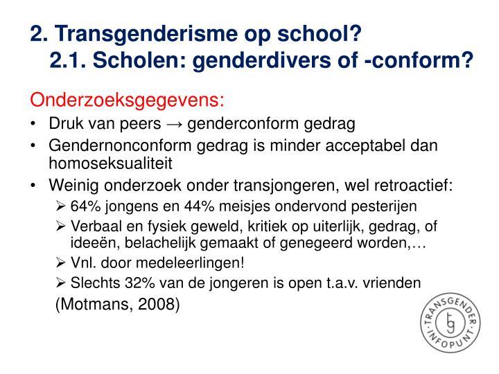 2. Transgenderisme op school