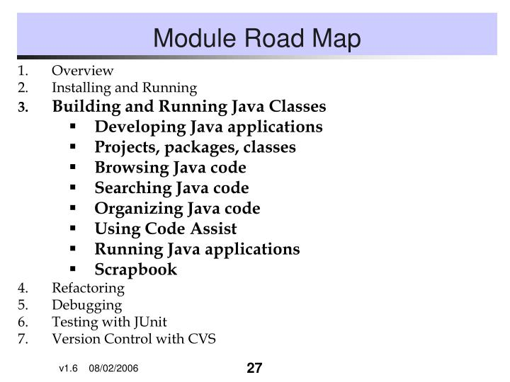 Module Road Map