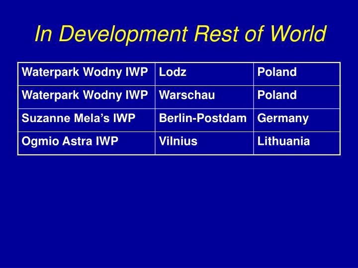 In Development Rest of World