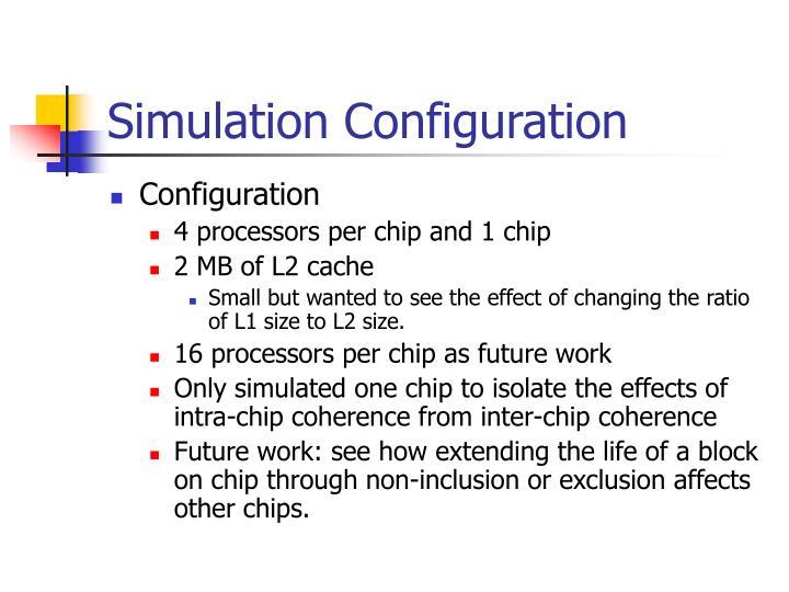 Simulation Configuration