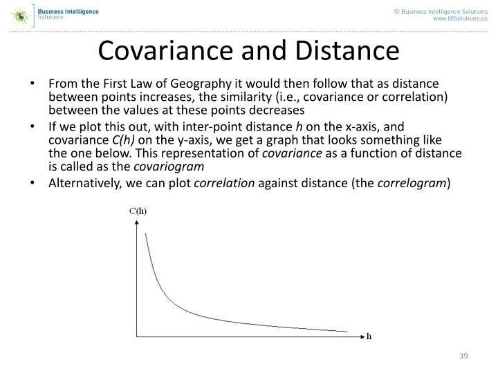 Covariance and Distance