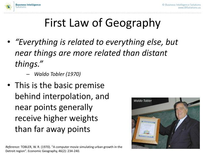 First Law of Geography
