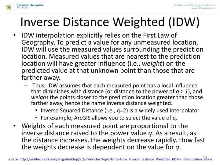Inverse Distance Weighted (IDW)