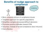 benefits of nudge a pproach to compliance