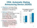 cra automatic d ialing announcing device adad