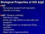 biological properties of igd ige