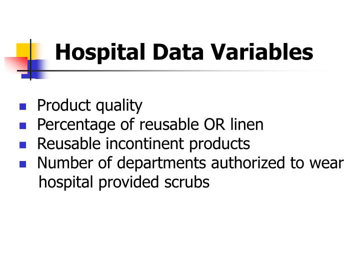 Hospital Data Variables