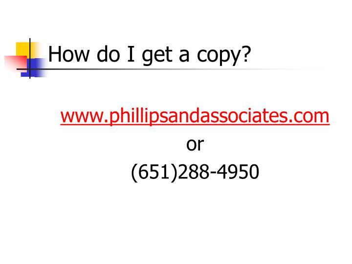 How do I get a copy?