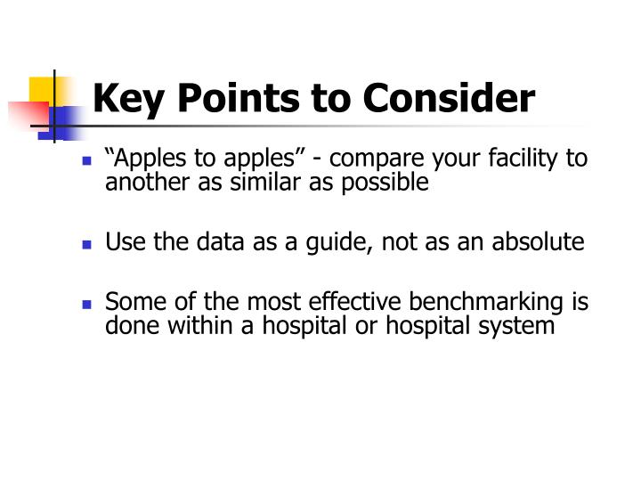 Key Points to Consider